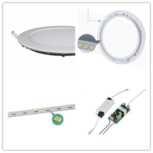 led panel light 18w led round led light sheet panel HUADA ELECTRICAL Brand