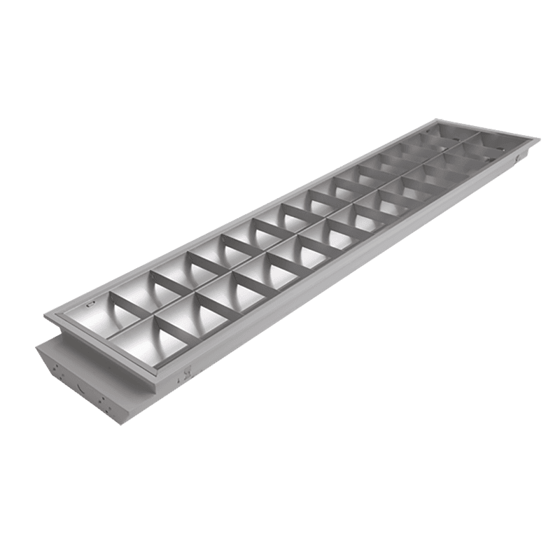 Fluorescent Batten Fixtures LED Grille Lighting Fixture 1200×300