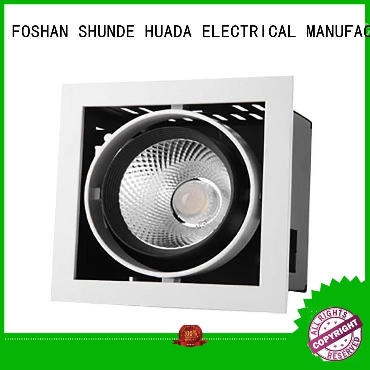 HUADA ELECTRICAL recessed cheap spotlights light square factory