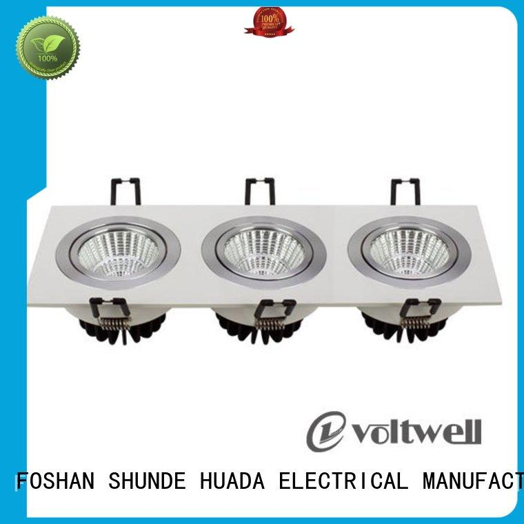 adjustable square led spotlights dimmable service hall