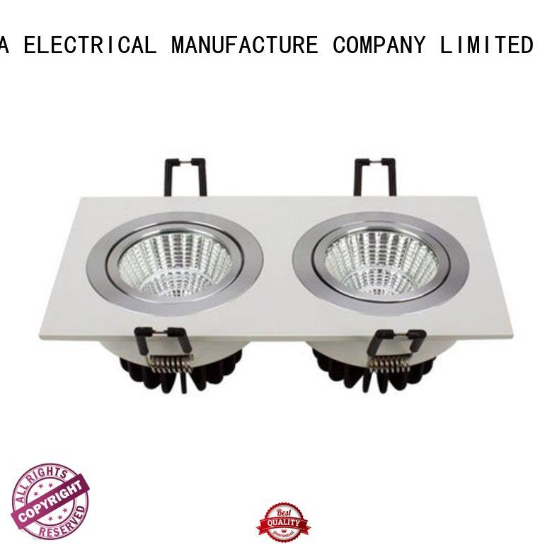 6 spotlight ceiling bar 17w led grille square led spotlights manufacture