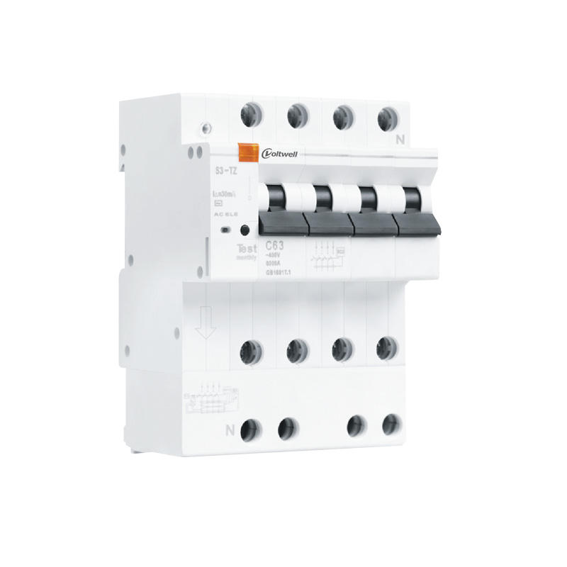 4P mini circuit breaker with leakage protection