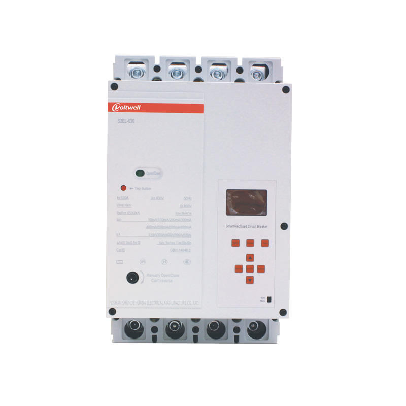 HBK-E10-EL630T smart plastic case circuit breaker  380V with leakage protection