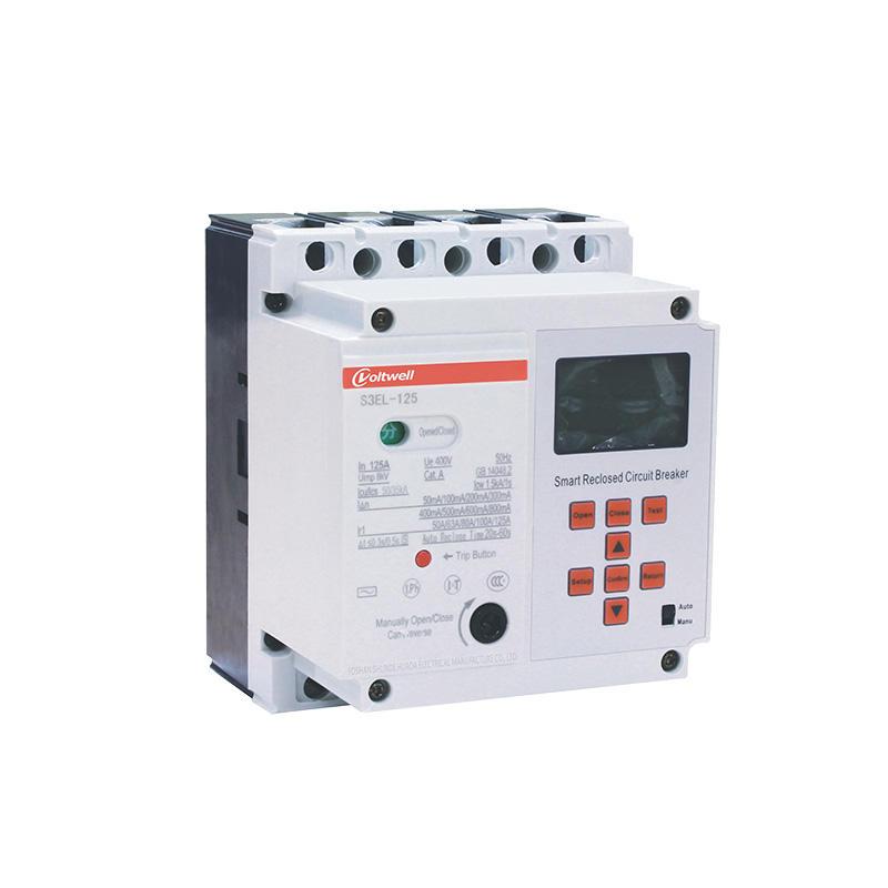 HBK-E10-EL125T smart plastic case circuit breaker  380V with leakage protection